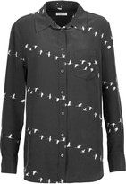 Equipment Reese printed washed-silk shirt