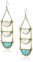 Lucky Brand Turquoise Ladder Drop Earrings
