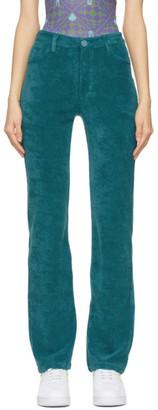 MAISIE WILEN Green Mockumentary Trousers