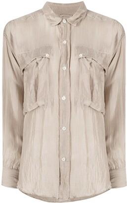 Katharine Hamnett Alex silk flap-pocket shirt
