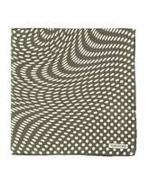 Tom Ford Stretch-Dot Print Pocket Square, Navy