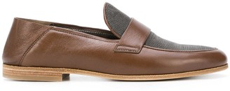 Brunello Cucinelli Bead-Embellished Loafers