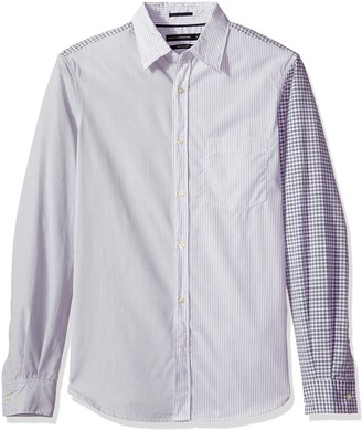 French Connection Men's Patchwork Block Cotton Shirt L