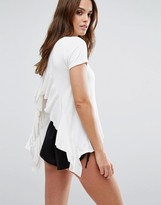 LIRA Ruffle Back Jersey Beach Top