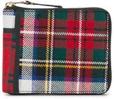 Comme des Garcons tartan patchwork wallet