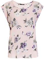 Quiz Pink Floral Print Crepe Top