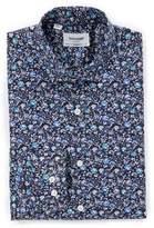Duchamp Men's Trim Fit Floral Dress Shirt