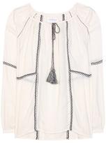 Velvet Shavanni cotton-blend tunic topic