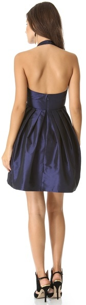 Halston Bow Halter Dress with Pocket