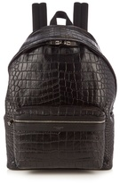 Saint Laurent Crocodile-effect Leather Backpack