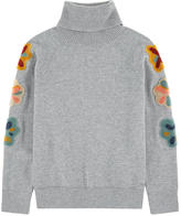 Chloé Mini Me woollen sweater with fancy patches