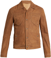 Bottega Veneta Intrecciato-trimmed suede jacket