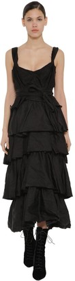 Brock Collection Ruffled Poplin Midi Dress