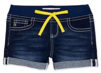 Seven7 Girls Neon Tie Waist Jean Roll Cuff Shorts, Sizes 7-16