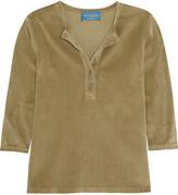 MiH Jeans Golborne Road By Bay Garnett Anita Cotton-blend Velvet Top - Camel