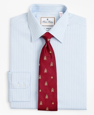 Brooks Brothers Luxury Collection Madison Classic-Fit Dress Shirt, Franklin Spread Collar Textured Stripe