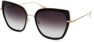 Barton Perreira Solstress Butterfly Titanium & Zyl Acetate Sunglasses