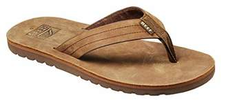 Reef Men's Sandal Voyage LE | Premium Real Leather Flip Flops for Men with Soft Cushion Footbed | Waterproof