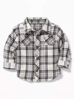 Old Navy Plaid Double-Pocket Twill Shirt for Baby