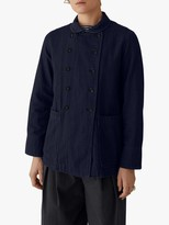 Toast Double Face Cotton Jacket, Indigo