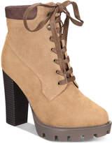 Callisto Metta Lace-Up Platform Booties Women's Shoes