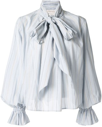 Karen Walker Denali striped bow blouse