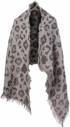 Collection Xiix Ltd. Collection XIIX Women's Woven Leopard Jacquard Wrap