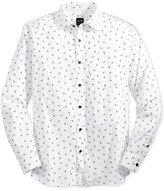 Armani Exchange Men's Logo Print Long Sleeve Button Down Shirt