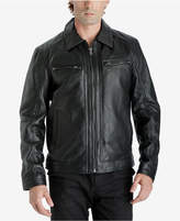 MICHAEL Michael Kors Men's Leather Bomber Jacket