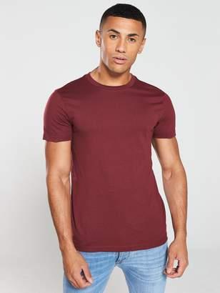 Very Crew Neck T-Shirt - Burgundy