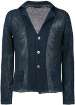 Zanone v-neck cardigan - men - Linen/Flax - 48