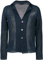 Zanone v-neck cardigan - men - Linen/Flax - 50