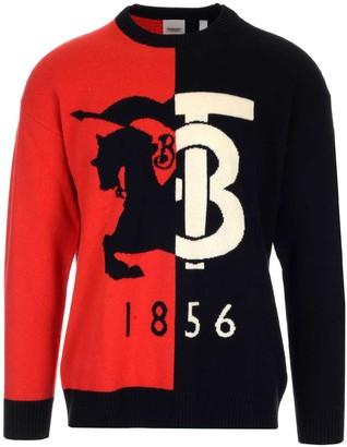 Burberry Contrast Colour Logo Sweater