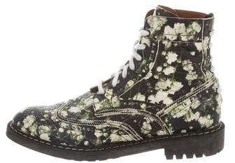 Givenchy Floral Print Brogue Boots
