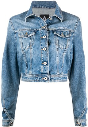 Marcelo Burlon County of Milan Cropped Denim Jacket