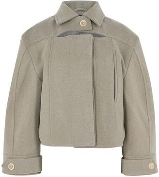 Jacquemus La Veste Albi Taupe Wool-blend Jacket