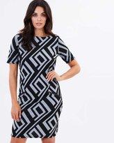 Wallis Geo Jacquard Dress