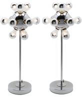 Rejuvenation Pair of Polished Chrome 12-Light Sputnik Floor Lamps