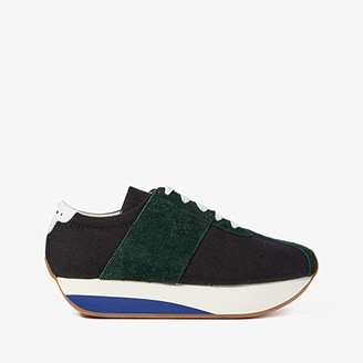Marni Retro Runner Sneaker (Black/Cypress) Men's Shoes