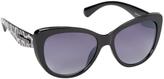Steve Madden Black Leopard-Accent Cat-Eye Sunglasses