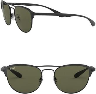 Ray-Ban Phantos 54mm Square Polarized Sunglasses