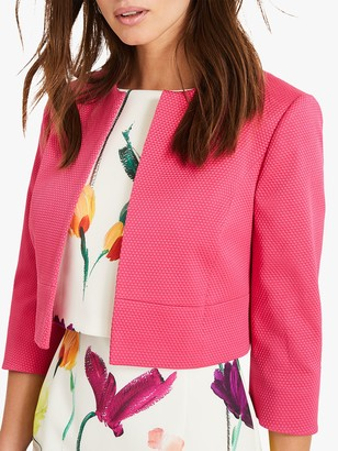 Phase Eight Toni Textured Jacket, Bright Pink
