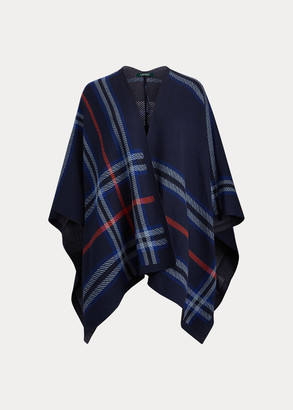 Ralph Lauren Cotton-Blend Poncho Sweater