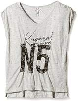 Kaporal Girl's Round Collar Short Sleeve T-Shirt - Grey