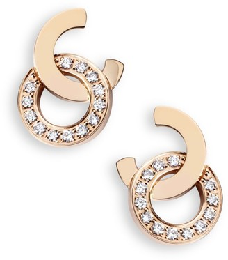 Piaget Possession Diamond & 18K Rose Gold Stud Earrings