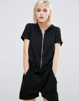 Asos Lounge Casual Hooded Romper