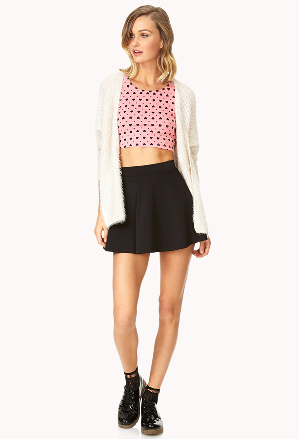 Forever 21 Sweetheart Crop Top