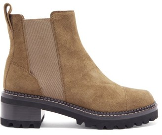 See by Chloe Crosta Chunky-sole Suede Chelsea Boots - Brown