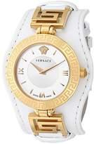 Versace Women's VLA010014 V-SIGNATURE Analog Display Swiss Quartz White Watch