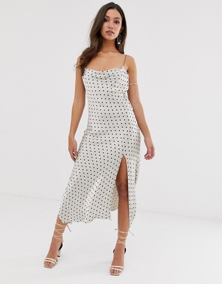 Bec & Bridge Spot Cami Midi Dress-Multi